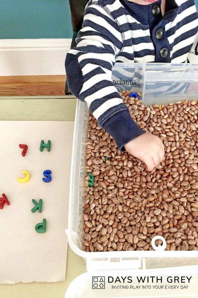 literacy sensory play