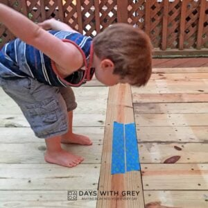 Hop the Lines; a Toddler Jumping Activity