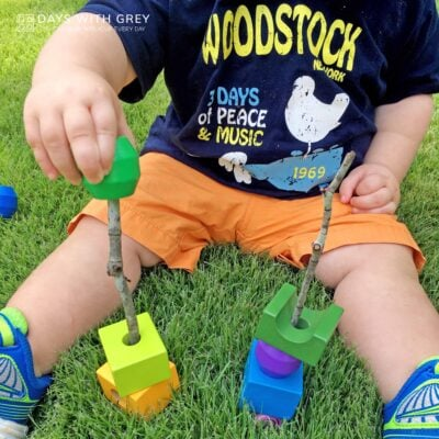 outdoor fine motor toddler activity