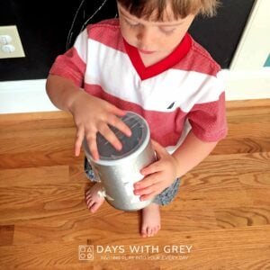 DIY Sound Shaker; a Toddler Science Activity