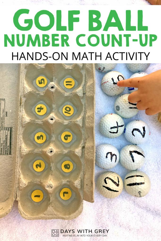 hands-on math activity for preschool