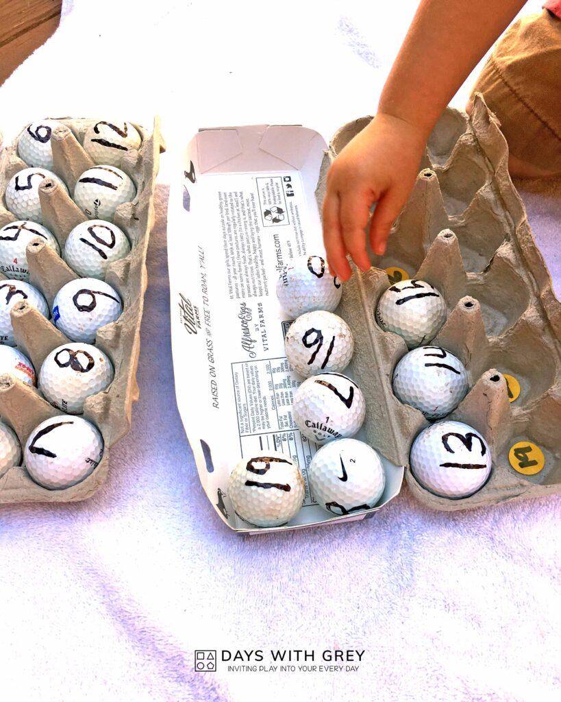 hands-on preschool math activity