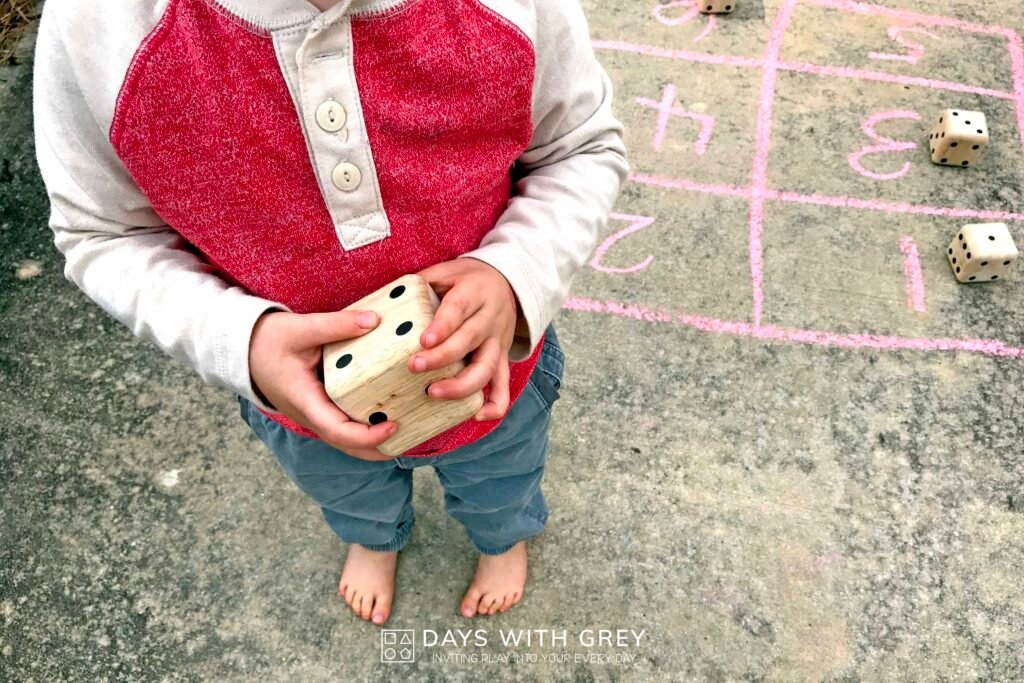 outdoor math activity for kids