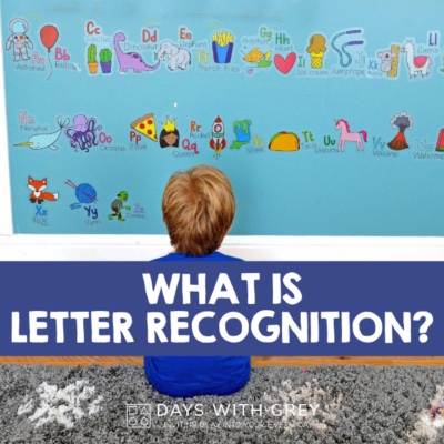 preschool letter activities