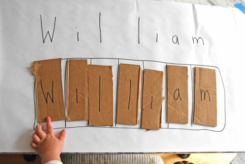 letter recognition name activity