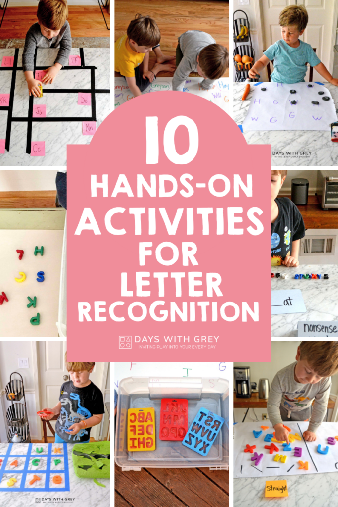 hands-on letter recognition