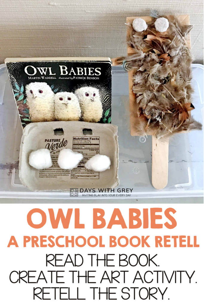 Preschool Owl Babies art activity