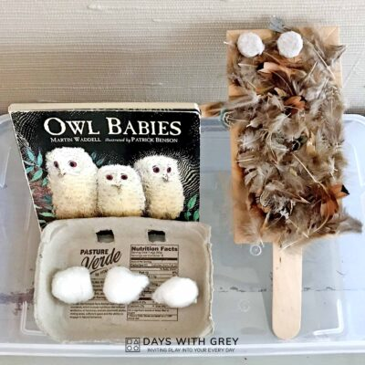 preschool art activity for Owl Babies