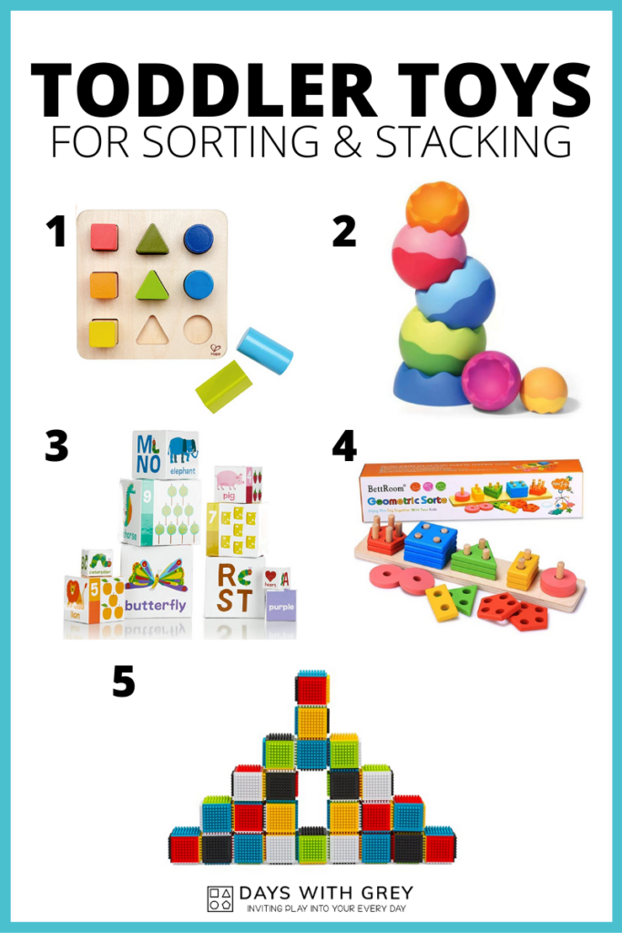 toddler sorting and stacking toys