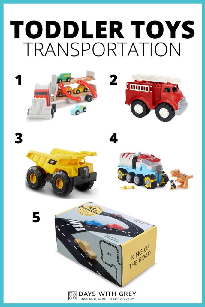 Toddler transportation toys