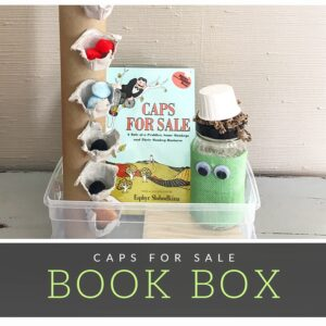 "Retell, ""Caps for Sale"" with June's Book Box"