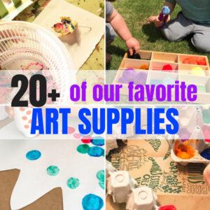 20+ Startup Craft Supplies for Your Preschooler