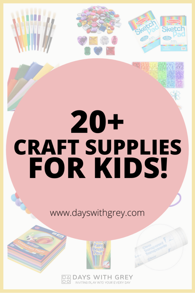 20+ Craft supplies for kids