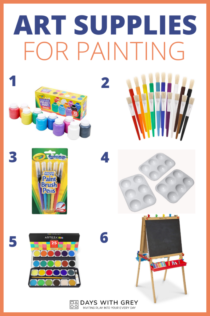 painting supplies for kids