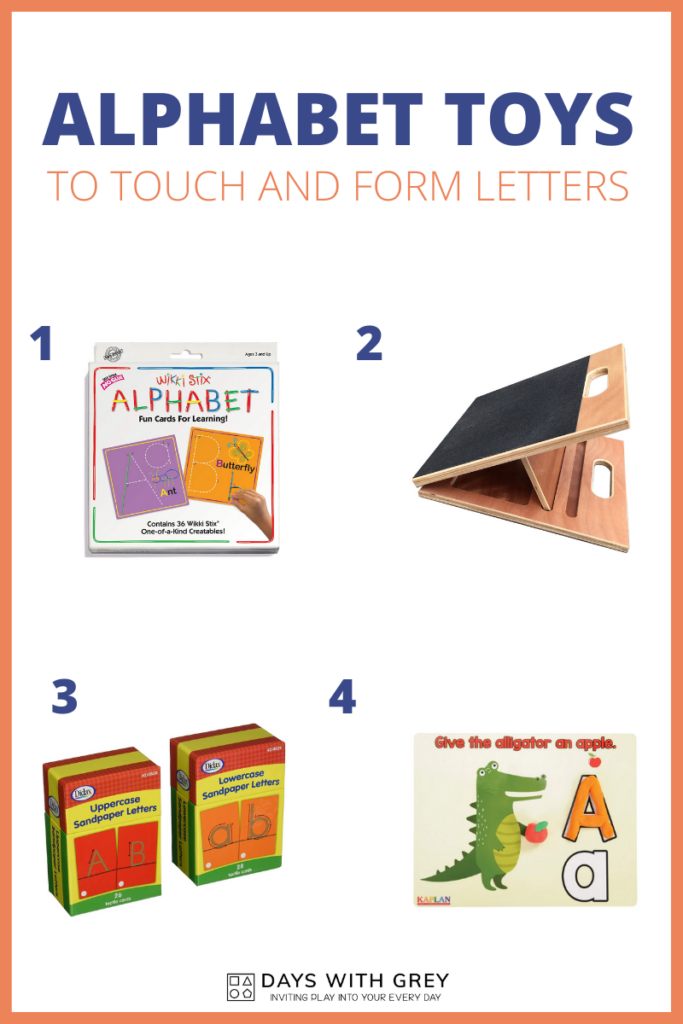 toys to form letters