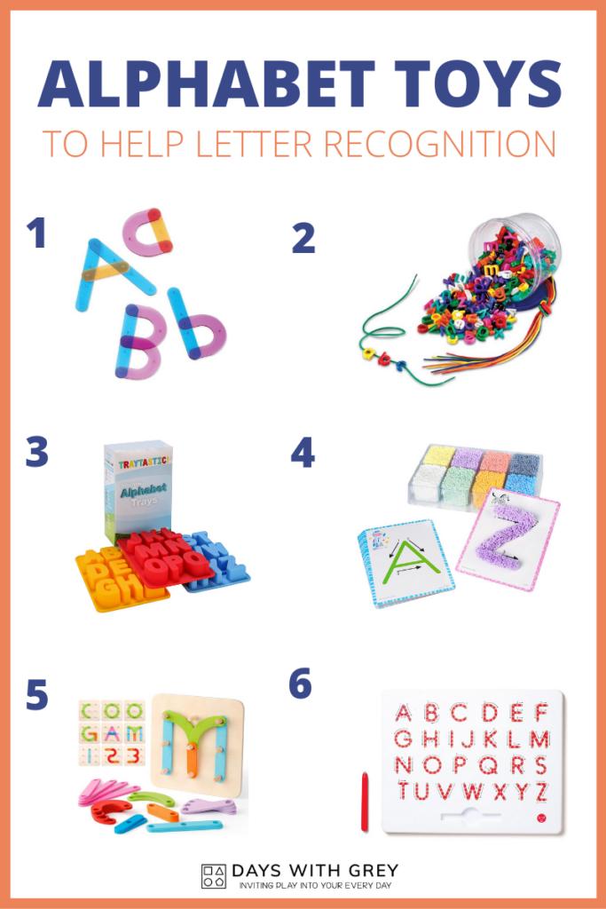 Letter recognition toys