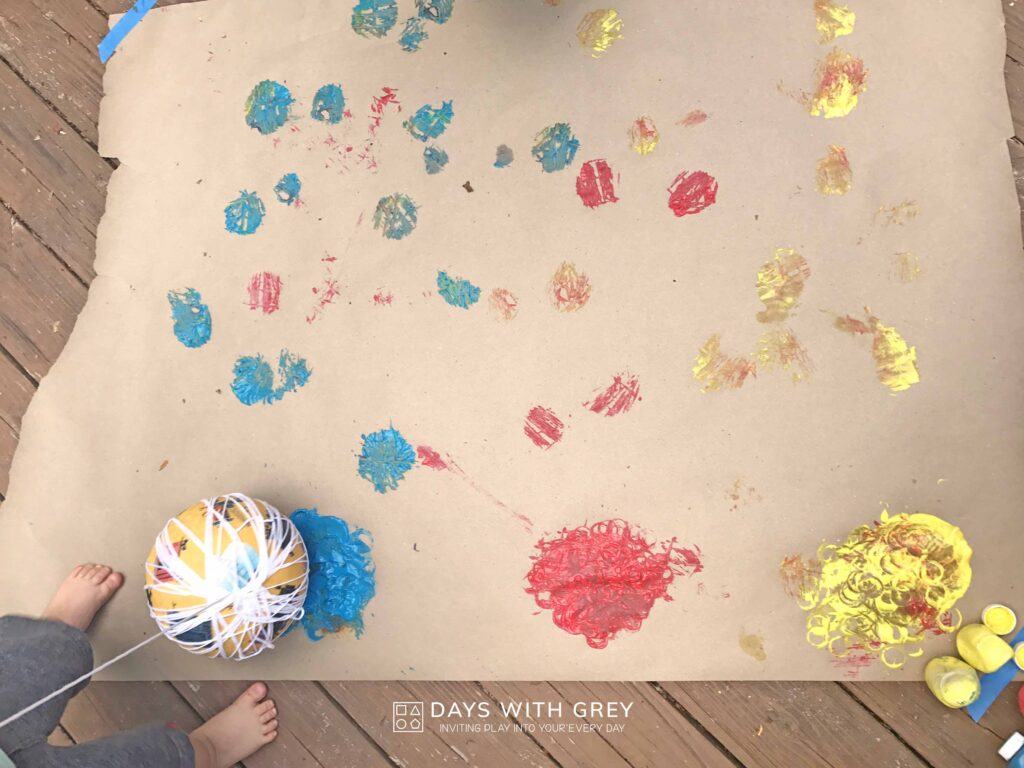 Outdoor painting for kids