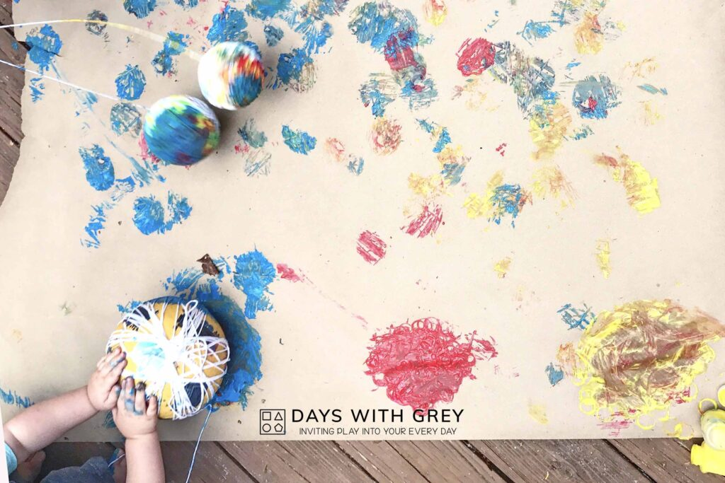 outdoor painting idea for kids