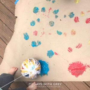 Bounce Paint Process Art for Kids