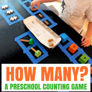 Quick Set-Up Number Game For Your Preschooler