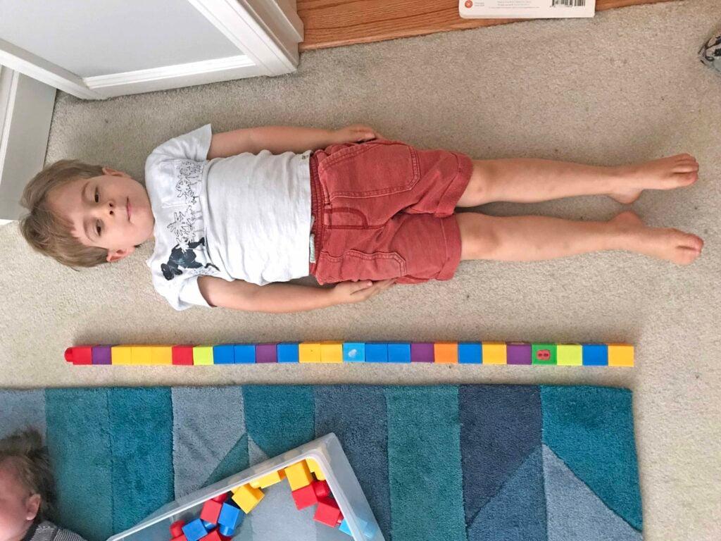 Nonstandard measurement activity for kids