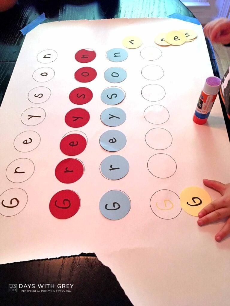 preschool name activity