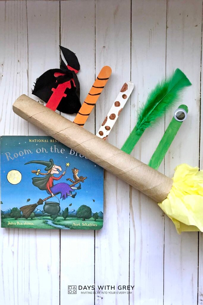 Halloween book and craft idea