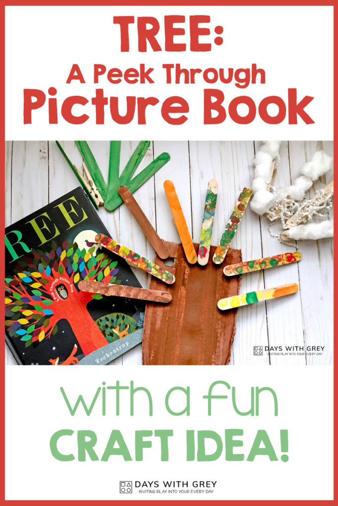Preschool book craft idea