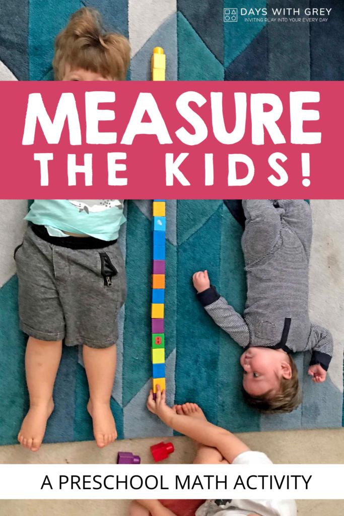 Nonstandard measurement for kids