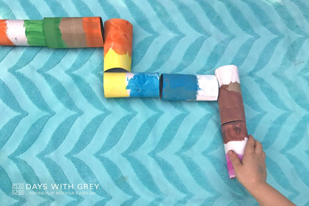 Painting paper tubes