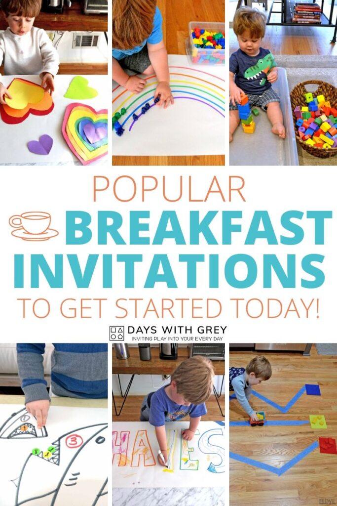 Popular Breakfast Invitations for kids