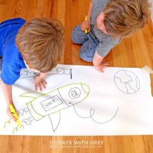 Highlighter Trace – a Fine Motor Activity for Preschoolers