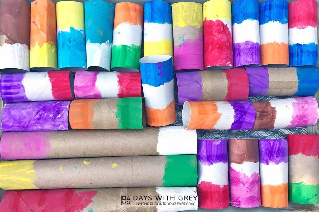 painted paper tubes