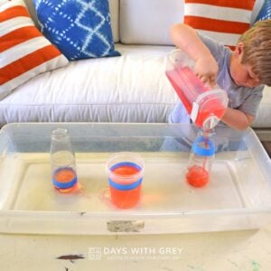 Pour to the Lines – Water Play Measurement Fun