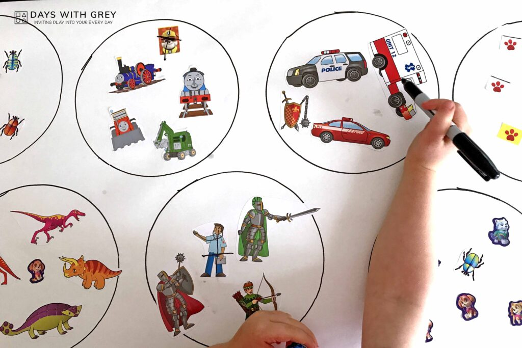 sticker activity for preschool