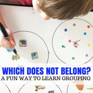 Which Does Not Belong? An Indoor Preschool Game