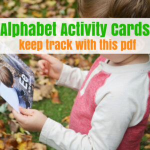 Use this PDF with your Alphabet Cards