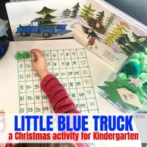 Christmas Activity for Kindergarten with Little Blue Truck