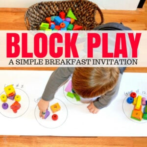 Quick Set Up Block Play for Grouping