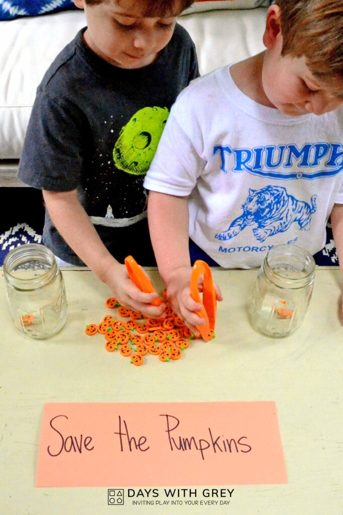 halloween fine motor activity