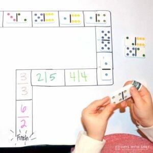 Domino Track – a Preschool Counting Activity