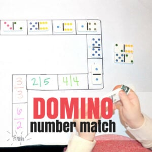 Domino Track – a Preschool Counting Game