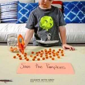Save the Pumpkins! a Fine Motor Halloween Activity