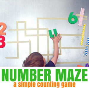 Number Maze – A Preschool Counting Activity