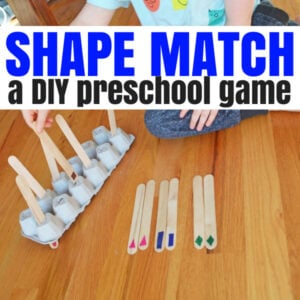 Shape Match – A DIY Shape Game for Your Preschooler