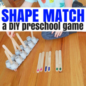 Shape Match – A DIY Shape Game for Your Preschooler