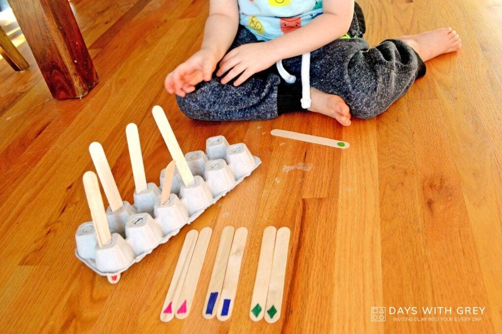 preschool memory matching shape game