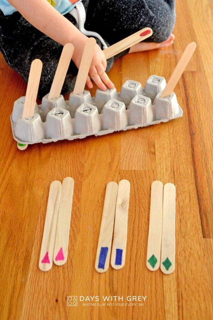 preschool shape memory match