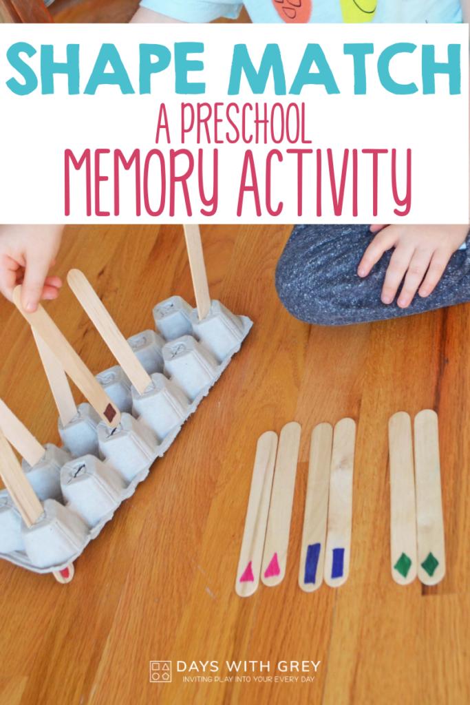 preschool shape memory game