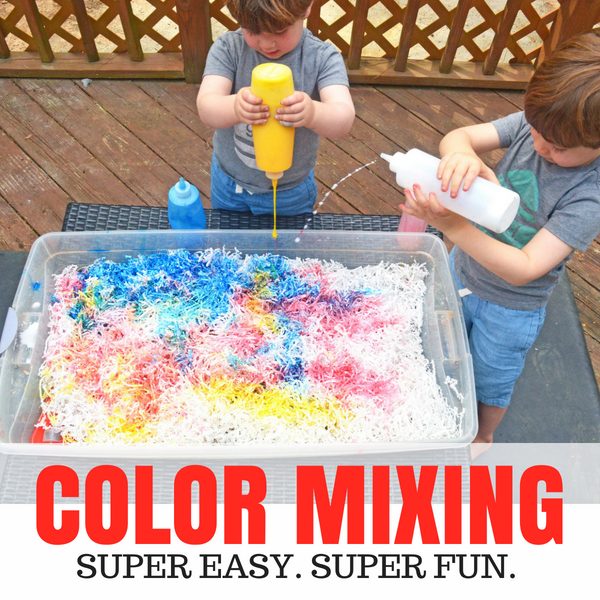 Color Mixing Sensory Play Days With Grey